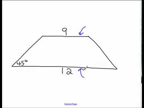 Area of a Trapeziod with some Trigonometry