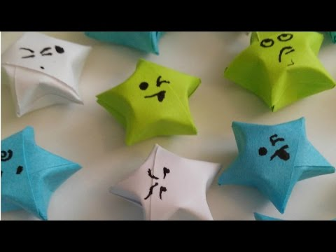 DIY  LUCKY STARS USING PAPER STRIPS