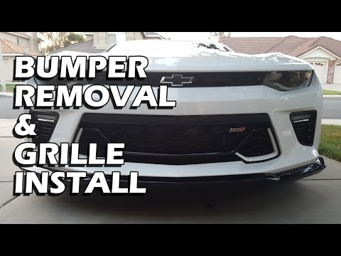 Camaro SS Bumper Removal and Front Anniversary Grille Install Guide - 2016/2017