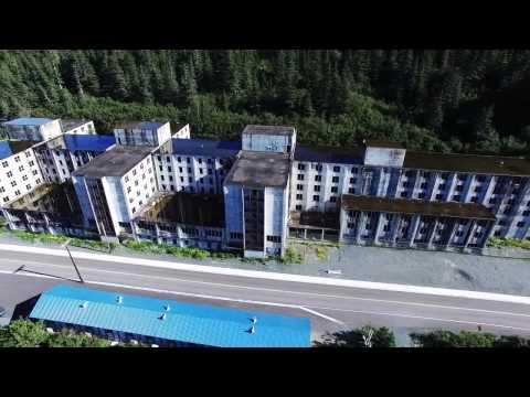 Whittier Alaska - Aerial