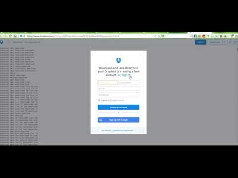 how to get dropbox file without account login