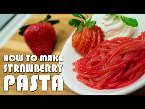How To Make Pasta from Strawberries