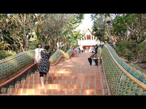 Visit to Wat Phra Doi Suthep, Chiang Mai