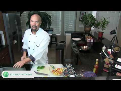 Blackened Shrimp Tacos w/ Mango Pineapple Berry Salsa   Healthy Cooking Videos