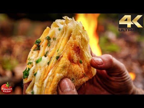 Ultimate Jianbing 4K - ASMR Forest Cooking