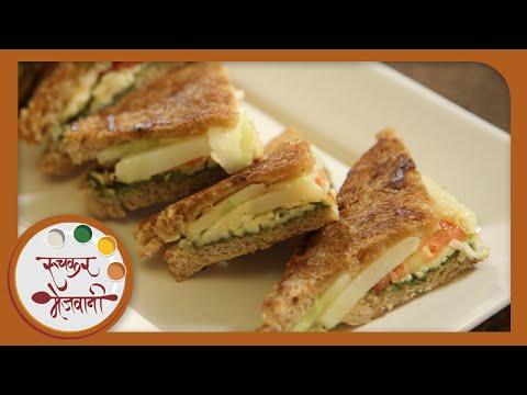 Veg Cheese Toast Sandwich | Easy Mumbai Street Food | Recipe For Kids by Archana in Marathi