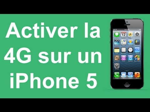 Activer la 4G sur un iPhone 5 5S 5C