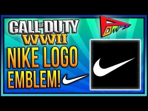 NIKE LOGO EMBLEM: COD WW2 Nike Logo Emblem Tutorial! Nike Clothing Logo Tutorial! PomPi COD