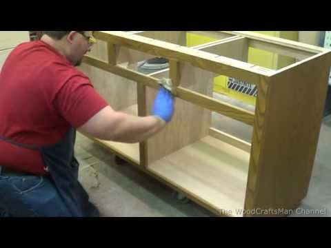 Building Custom Oak Cabinets Episode 8-Applying The Stain
