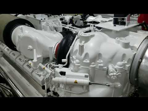 85 Foot Yacht 7.5 Million Dollar Engine Room