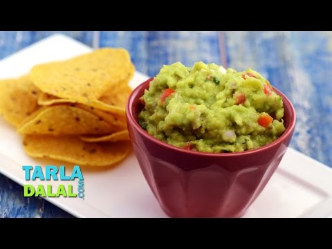 Guacamole, Mexican Veg Avacado Guacamole Recipe by Tarla Dalal