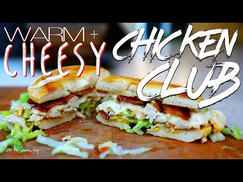 Best Warm Cheesy Bacon Chicken Club recipe by SAM THE COOKING GUY
