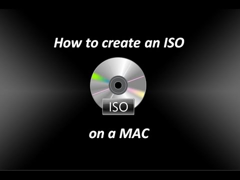 How to create an ISO file on a Mac