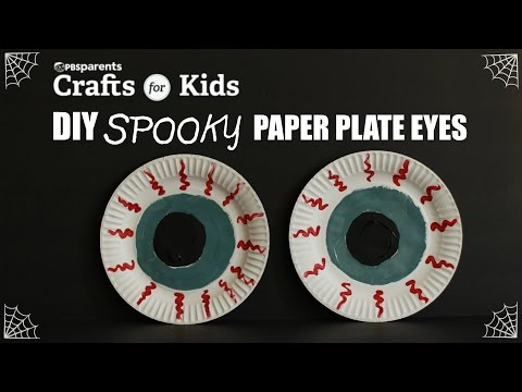 Spooky Paper Plate Eyes | Crafts for Kids | PBS Parents