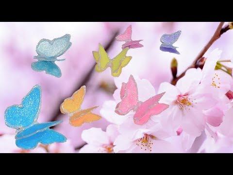 DIY 3D Butterflies With Holo Glitter!