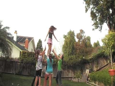 AWESOME CHEER STUNTS!!!! ( Ft. Kick Full First time)