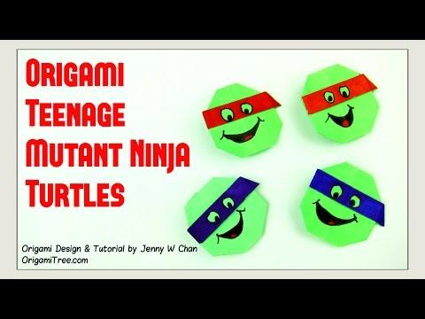 Origami Turtle - Teenage Mutant Ninja Turtles TNMT - Paper Crafts Kids