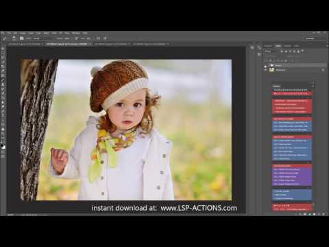 Create a winter photo in photoshop - add snow overlays