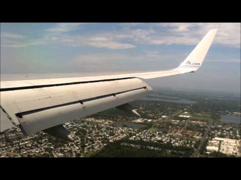 American Airlines 757 Miami To Orlando (Takeoff and Landing) [HD]