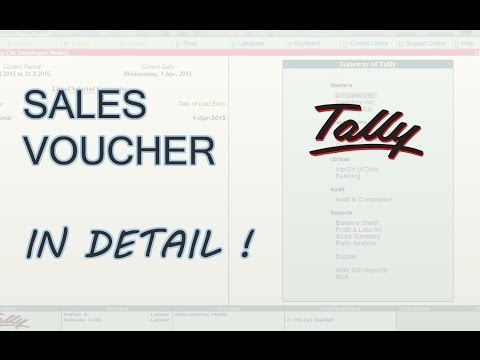 How To Enter Sales Voucher in Tally ERP 9 | Sales Voucher Class