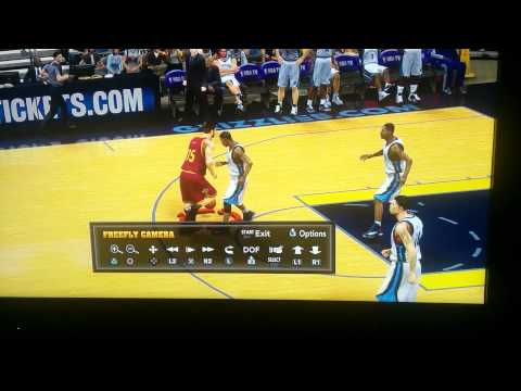 2k15 alley oop off backboard to labron