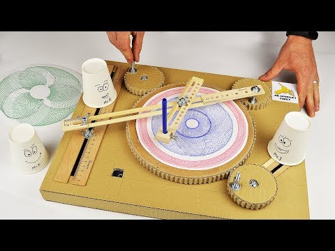 How To Make Mini Drawing Machine From Cardboard