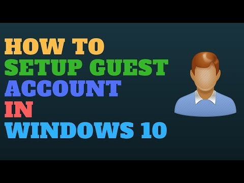 How to Setup Guest Account in Windows 10
