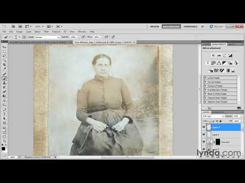 How to restore a faded photograph | lynda.com tutorial