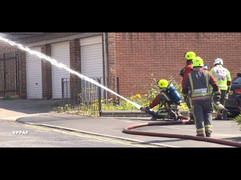 Nottingham fire brigade in action