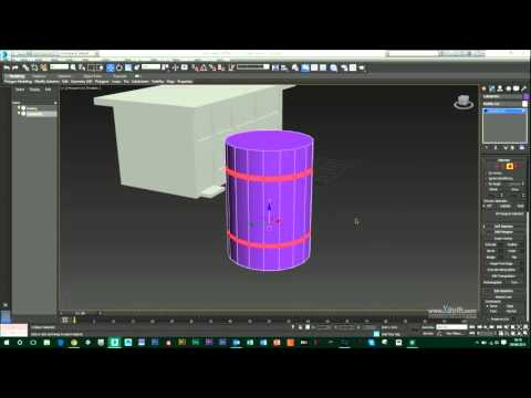 3DS Max - Creating a simple steel drum/barrel in 3DS Max