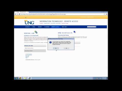 HOWTO: Access the UNG Virtual Labs