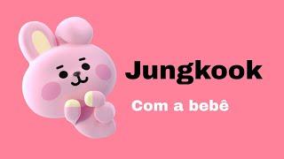 ASMR Jungkook - Vlog do dia feat. Você e a filha dele.