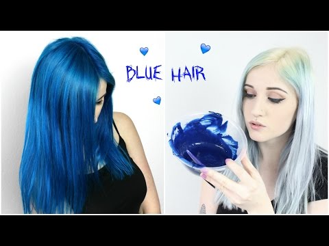 Bleaching Roots + Dyeing Hair Comic Blue!