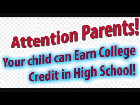 Dual Enrollment/High School Students Earning College Credit