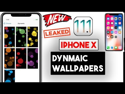 Apple iPhone X Special Dynamic Wallpapers (LEAKED) iOS 11.1 (UPDATE)