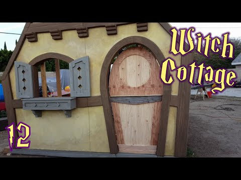 Making A Dutch Door - Witch Cottage Halloween Facade