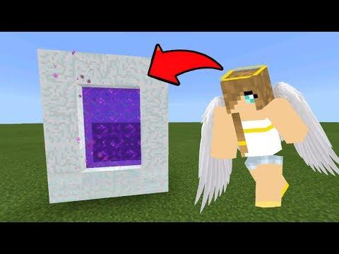 Minecraft Pe How To Make A Portal To Heaven - Mcpe Portal To The Heaven Dimension!!!