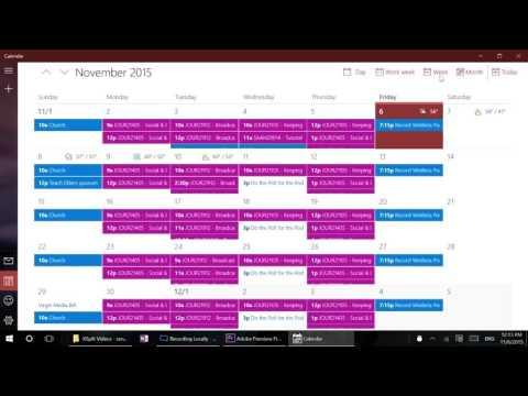 Windows 10 In Depth: Calendar app