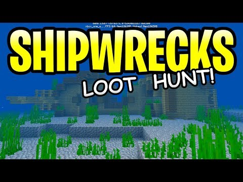 Minecraft Update Aquatic Shipwreck Loot! ALL SHIPS EXPLORED! PE, Xbox, PS4 & Switch