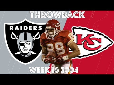 Raiders vs. Chiefs (2004 Highlights) | Tony Gonzalez's Christmas Show | NFL Classic Highlights