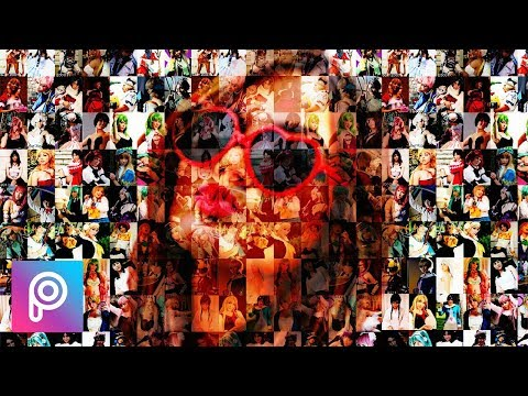 Cara edit mozaik efek (foto collage) di picsart android