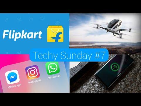 Techy Sunday #7   Meizu Zero, Flying Taxi, Whatsapp+Facebook+Instagram, Flipkart   Techno Buzzer