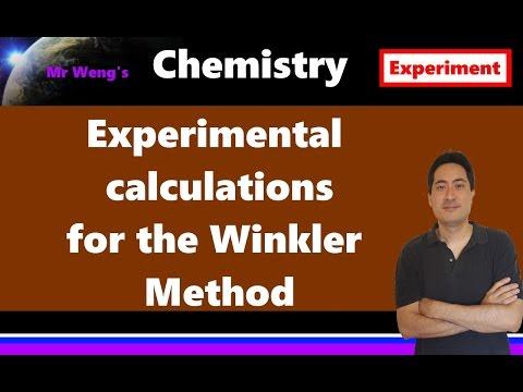 Winkler Method Dissolved Oxygen IB Chemistry experimental calculations