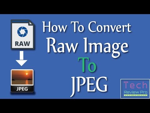 How To Convert Raw Image To JPEG File With Photoscape | 2017 | Tech Review Pro