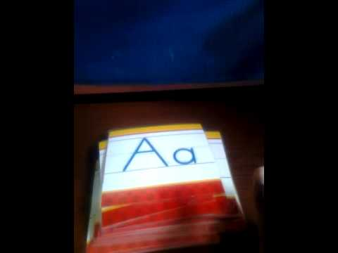 How to Make Alphabet Flashcards/Tracing Cards