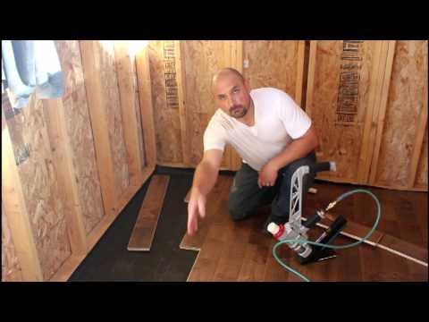 how to install prefinished hardwood flooring