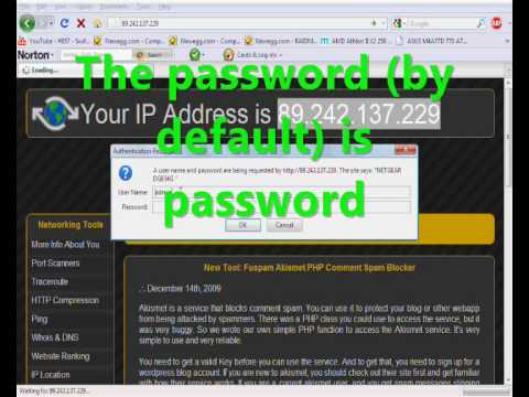 How to find your IP and WEP key