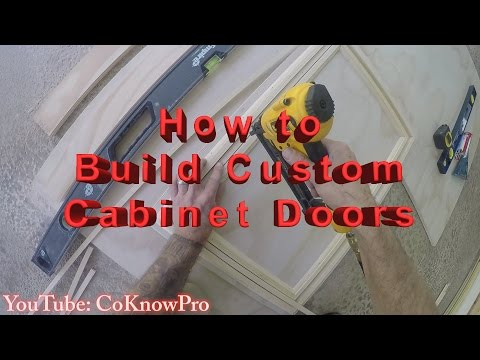 How to Build a Custom Cabinet Door by CoKnowPro (YouTube)