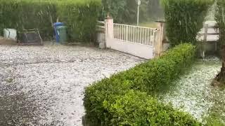 Orage de grêle sur le secteur de Limoges le 1er juin 2020