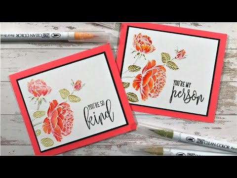 Watercolored Roses with Zig Clean Color Markers